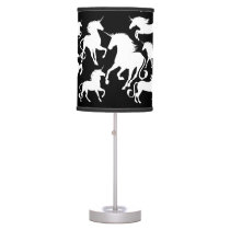 set of unicorns table lamp