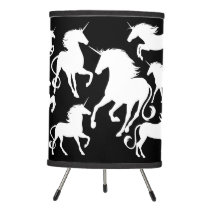set of unicorns tripod lamp