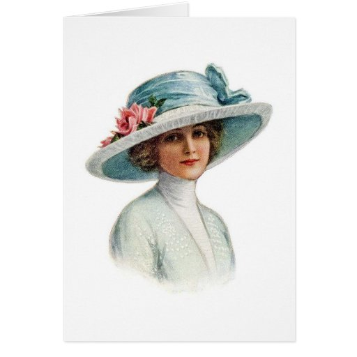 Set of Vintage Millinery Notecard (4) Greeting Cards