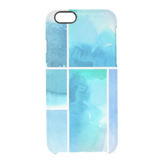 Set of watercolor abstract hand painted 2 clear iPhone 6/6S case
