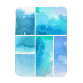 Set of watercolor abstract hand painted 2 magnet