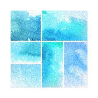 Set of watercolor abstract hand painted 3 canvas print