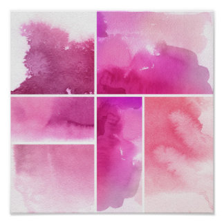 Set of watercolor abstract hand painted 3 poster