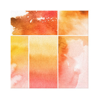 Set of watercolor abstract hand painted 4 canvas print