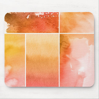 Set of watercolor abstract hand painted 4 mouse pad