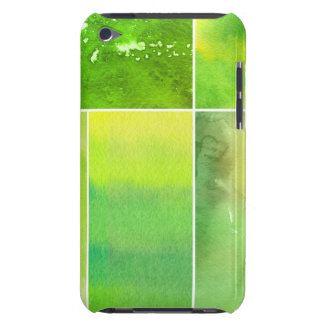 Set of watercolor abstract hand painted iPod touch cover