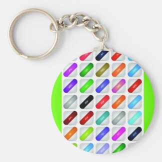 Set of website icons 02 keychains