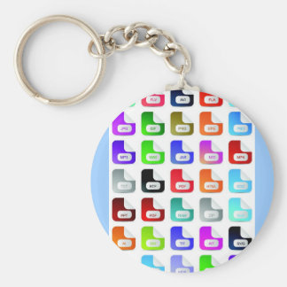 Set of website icons 03 keychain