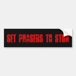 Set Phasers To Stun Bumper Sticker