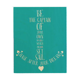 Set Sail and Chase Your Dreams Anchor Quote Art