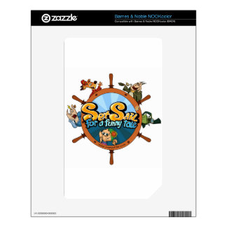 Set sail for a funny tale NOOK color decals