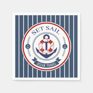Set Sail Ocean Travel Nautical Napkin