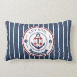 Set Sail Ocean Travel Nautical Throw Pillow