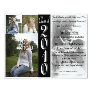 Set sail photo graduation invitation