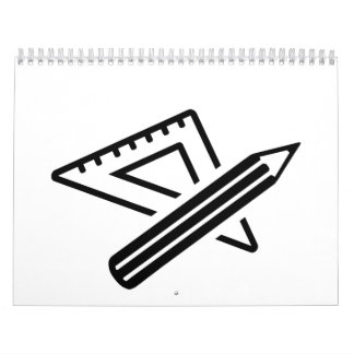 Set square ruler pen calendar