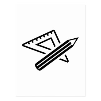 Set square ruler pen postcard