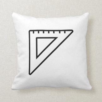 Set square throw pillow