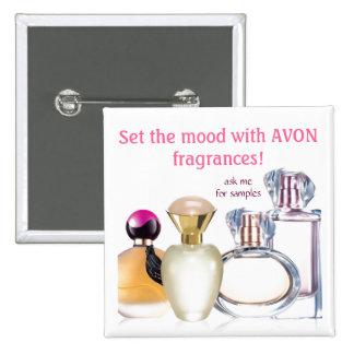 Set the Mood~AVON Fragrances 2 Inch Square Button