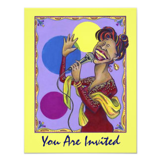 SET THE STAGE FOR FUN KARAOKE PARTY ~ INVITATION
