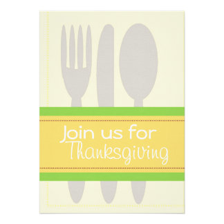 Set the Table Personalized Invitation