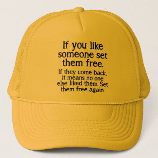 Set Them Free Funny Ball Cap Hat