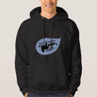 Set them free orca hoodie