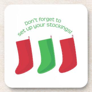 Set Up Stockings Beverage Coasters