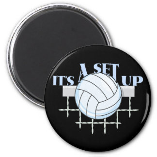 Set Up Volleyball Magnet