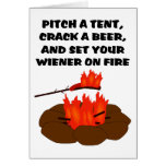 Set Wiener On Fire Greeting Cards