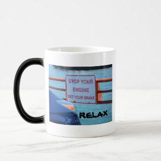 SET YOUR BRAKE AND RELAX! BALBOA ISLAND FERRY MAGIC MUG
