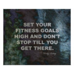 Set Your Fitness Goals High for Success Print