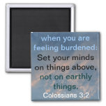 set your minds on things above bible verse magnet