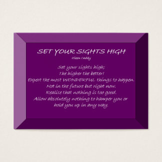 Set Your Sight High Business Card