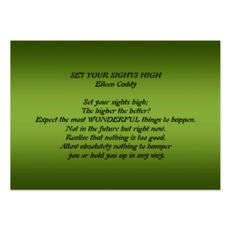 Set Your Sights High Business Card