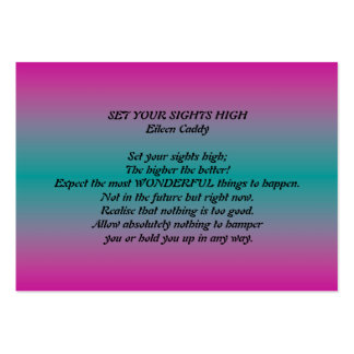 SET YOUR SIGHTS HIGH BUSINESS CARD TEMPLATES