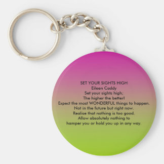 Set Your Sights High Keychain