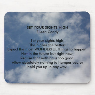 Set Your Sights High Mouse Pad