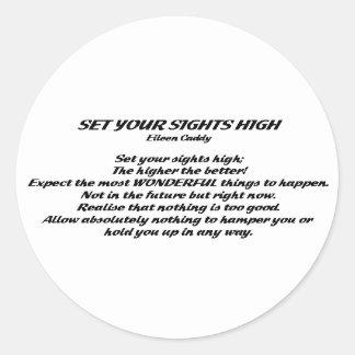Set Your Sights High Round Sticker