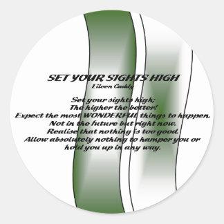 Set Your Sights High Sticker