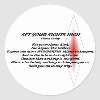 Set Your Sights High Round Stickers