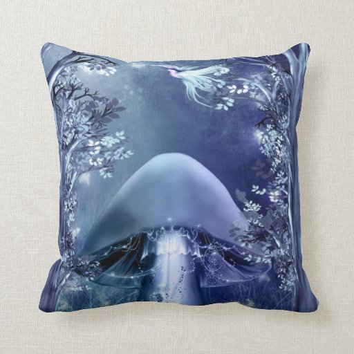 seta azul almohada