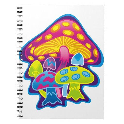 Seta con colores hermosos libretas espirales