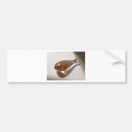 seta de cristal anaranjada soplada mano pendiente etiqueta de parachoque