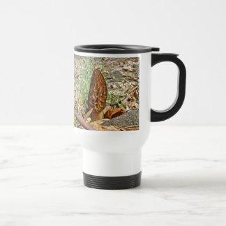 Seta de la morilla taza de café