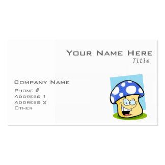 Seta del azul real tarjeta de visita
