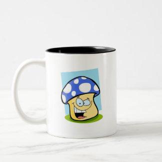 Seta del azul real tazas de café
