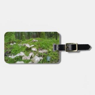 Seta del bosque etiquetas para equipaje