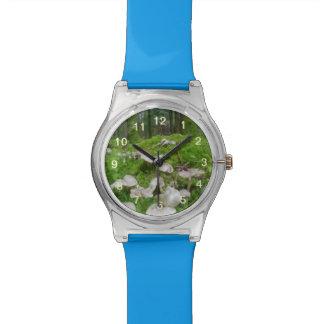 Seta del bosque relojes de pulsera