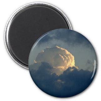 Seta del cielo imán redondo 5 cm