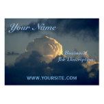 Seta del cielo tarjeta de visita